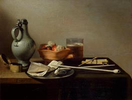 Still Life with Clay Pipes | Pieter Claesz | Painting Reproduction