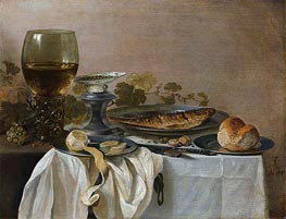 Still Life with Fish | Pieter Claesz | Gemälde Reproduktion
