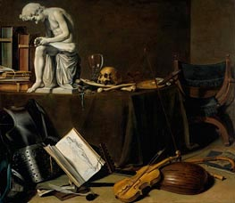 Vanitas Still Life with the Spinario | Pieter Claesz | Gemälde Reproduktion