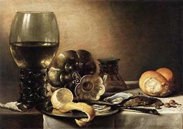 Oyster Breakfast, 1633 by Pieter Claesz | Painting Reproduction