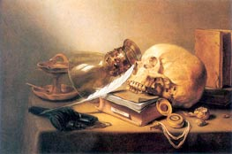 A Vanitas Still Life, 1645 by Pieter Claesz | Painting Reproduction