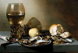 Stil Life with Oysters | Pieter Claesz | Painting Reproduction
