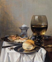 Still Life with Saltcella, c.1640/45 by Pieter Claesz | Painting Reproduction