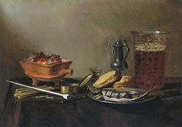 Still Life with Pipe, 1647 by Pieter Claesz | Painting Reproduction
