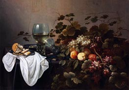 Still Life with Fruit and Roemer, 1644 by Pieter Claesz | Painting Reproduction