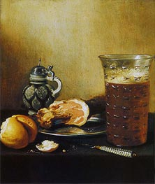 Still Life with a Ham | Pieter Claesz | Painting Reproduction