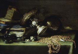 Still Life with a Gold Chain | Pieter Claesz | Gemälde Reproduktion