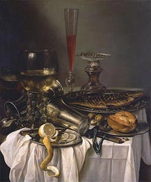 Breakfast with Fish | Pieter Claesz | Gemälde Reproduktion