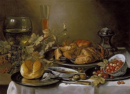 Still Life with Crab | Pieter Claesz | Painting Reproduction