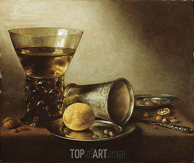 Still Life with Roemer, 1644 | Pieter Claesz | Painting Reproduction