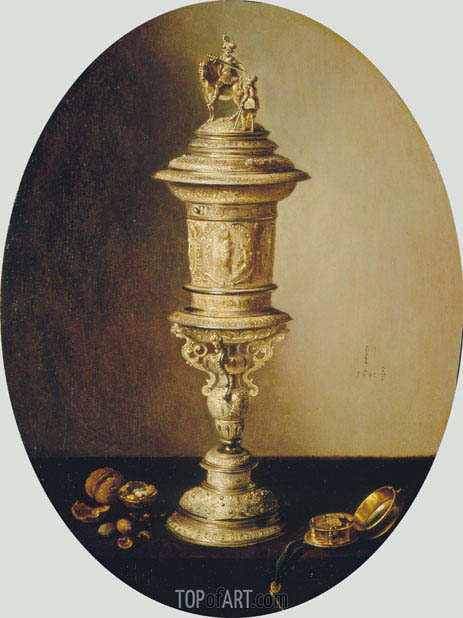 Still Life with the Covered Cup of the Haarlem Brewer's Guild, 1641 | Pieter Claesz | Painting Reproduction