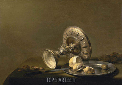 Still Life with a Tazza, undated   Pieter Claesz   Painting Reproduction