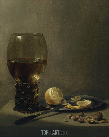 Still Life with a Large Roemer, undated | Pieter Claesz | Painting Reproduction