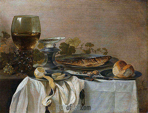 Still Life with Fish, 1647 | Pieter Claesz | Painting Reproduction