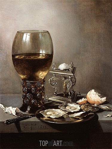 Still Life with Oysters, 1643 | Pieter Claesz | Gemälde Reproduktion