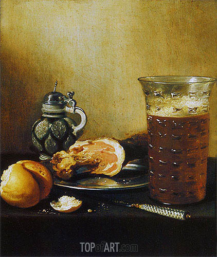 Still Life with a Ham, 1642 | Pieter Claesz | Painting Reproduction