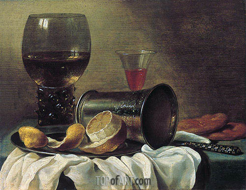 Still Life with Rummer, c.1645/48 | Pieter Claesz | Painting Reproduction