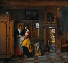 The Linen Chest, 1663 by Pieter de Hooch | Painting Reproduction