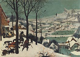 The Hunters in the Snow (Winter), 1565 von Bruegel the Elder | Gemälde-Reproduktion