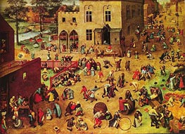 Children's Games, c.1559/60 von Bruegel the Elder | Gemälde-Reproduktion