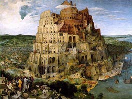 The Tower of Babel, 1563 von Bruegel the Elder | Gemälde-Reproduktion