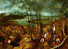 The Gloomy Day, 1565 von Bruegel the Elder | Gemälde-Reproduktion