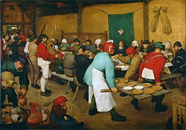 Peasant Wedding, c.1568 von Bruegel the Elder | Gemälde-Reproduktion