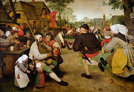 The Peasant Dance, 1568 von Bruegel the Elder | Gemälde-Reproduktion
