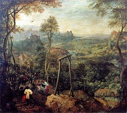 The Magpie on the Gallows, 1568 von Bruegel the Elder | Gemälde-Reproduktion