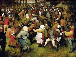The Wedding Dance, c.1566 von Bruegel the Elder | Gemälde-Reproduktion