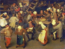 Wedding Dance, c.1567/69 von Bruegel the Elder | Gemälde-Reproduktion