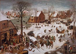 The Census at Bethlehem, undated von Bruegel the Elder | Gemälde-Reproduktion
