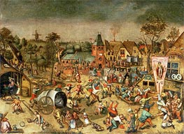 The Kermesse of the Feast of St. George, undated von Bruegel the Elder | Gemälde-Reproduktion