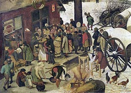 The Census at Bethlehem (Detail), undated by Bruegel the Elder | Painting Reproduction