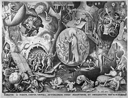 Christ in Hell, c.1561 by Bruegel the Elder | Painting Reproduction