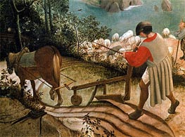 Landscape with the Fall of Icarus (Detail), c.1555/58 by Bruegel the Elder | Painting Reproduction