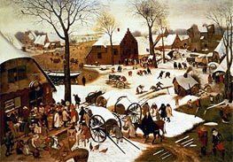 Census at Bethlehem, c.1566 by Bruegel the Elder | Painting Reproduction