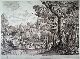 Pagus Nemorosus (Village in the Woods), Undated by Bruegel the Elder | Painting Reproduction
