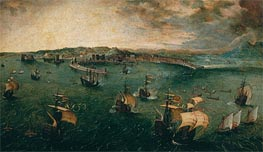 Naval Battle in the Gulf of Naples, c.1563 by Bruegel the Elder | Painting Reproduction