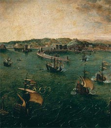 Naval Battle in the Gulf of Naples (Detail), c.1563 by Bruegel the Elder | Painting Reproduction