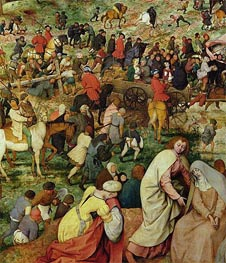 The Procession to Calvary (Detail), 1564 by Bruegel the Elder | Painting Reproduction