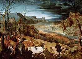 The Return of the Herd (Autumn) | Bruegel the Elder | Painting Reproduction
