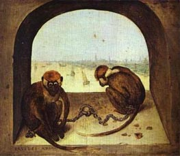 Two Monkeys | Bruegel the Elder | Painting Reproduction