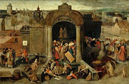 Christ Driving the Traders from the Temple, undated von Bruegel the Elder | Gemälde-Reproduktion