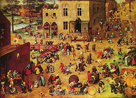 Children's Games, c.1559/60 | Bruegel the Elder | Painting Reproduction