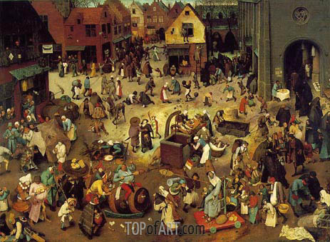 The Fight Between Carnival and Lent, 1559 | Bruegel the Elder | Painting Reproduction