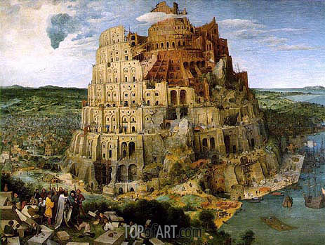The Tower of Babel, 1563 | Bruegel the Elder | Gemälde Reproduktion