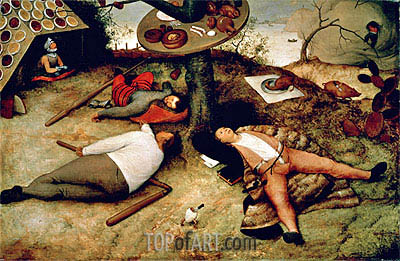 The Land of Cockaigne, 1567 | Bruegel the Elder | Painting Reproduction