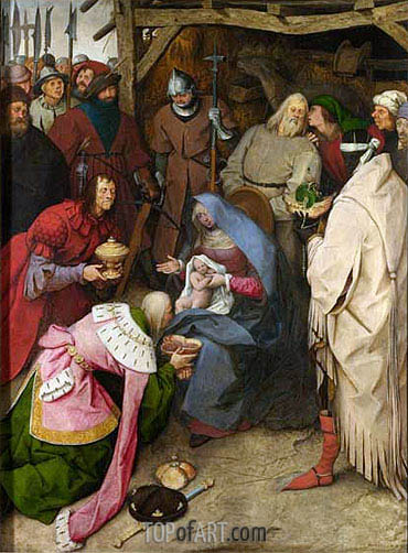 The Adoration of the Kings, 1564 | Bruegel the Elder | Painting Reproduction