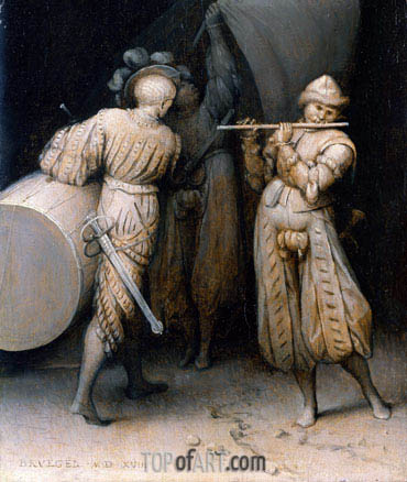 The Three Soldiers, 1568 | Bruegel the Elder | Painting Reproduction